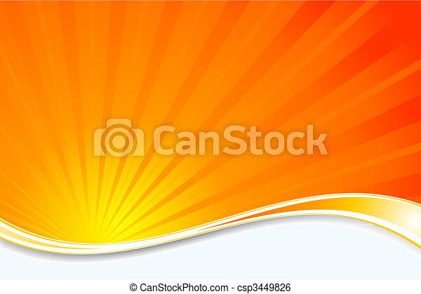 sunburst, baggrund - csp3449826