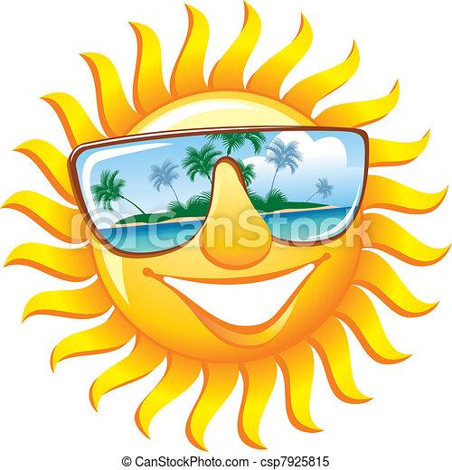 sunglasses, muntre, sol - csp7925815