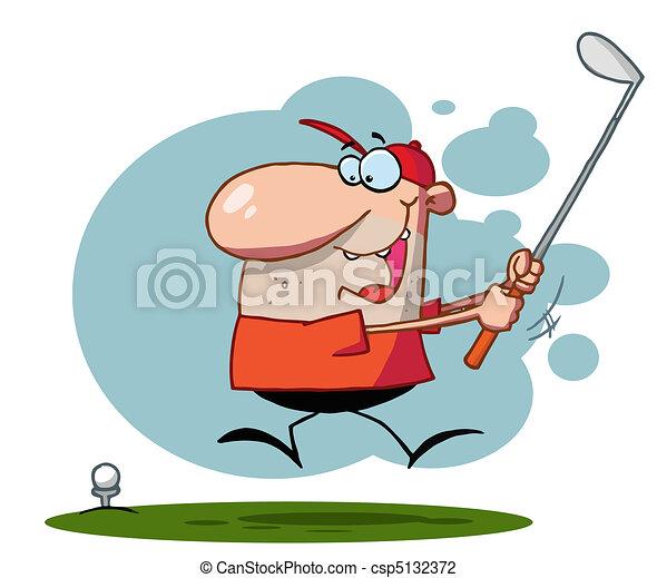 svinge, klub, hans, golf, guy - csp5132372
