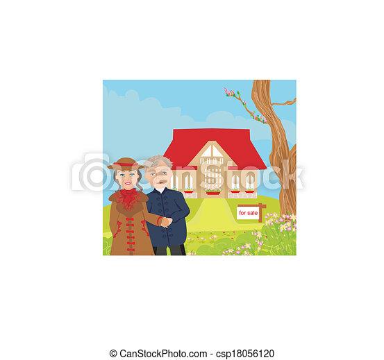 tegn, hus, illustration, moderne, omsætning, vektor, stor, smukke - csp18056120