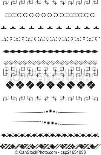 tekst, geometriske, dividers - csp21654038