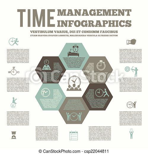 tid ledelse, infografic, plakat - csp22044811