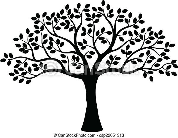 træ, silhuet - csp22051313
