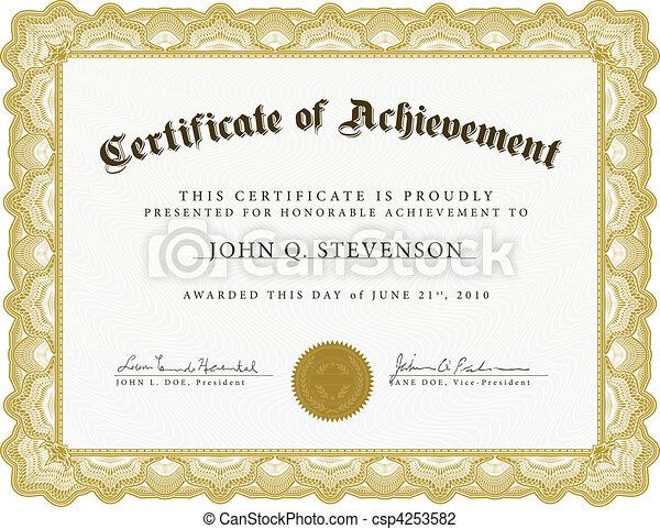 tung, vektor, grænse, certifikat - csp4253582