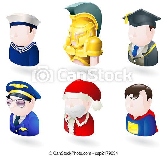 væv, folk, avatar, sæt, ikon - csp2179234