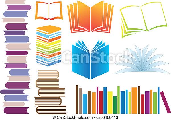 vektor, bøger - csp6468413