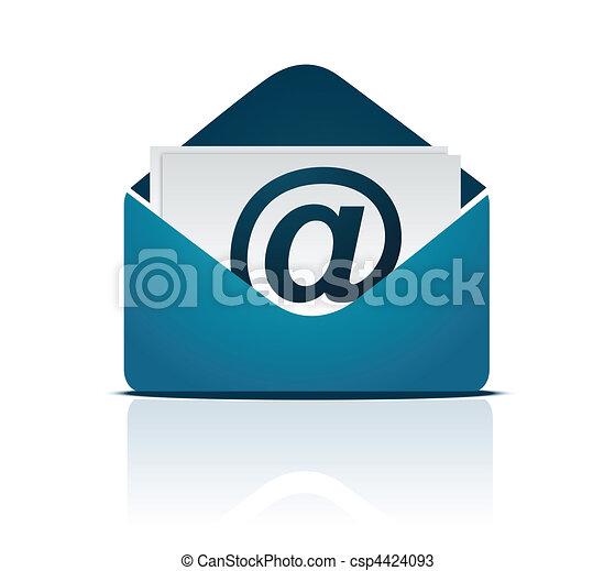 vektor, email, /, tegn - csp4424093