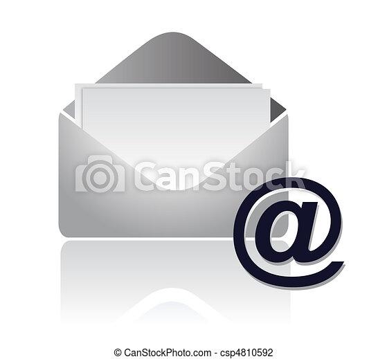 vektor, email, /, tegn - csp4810592