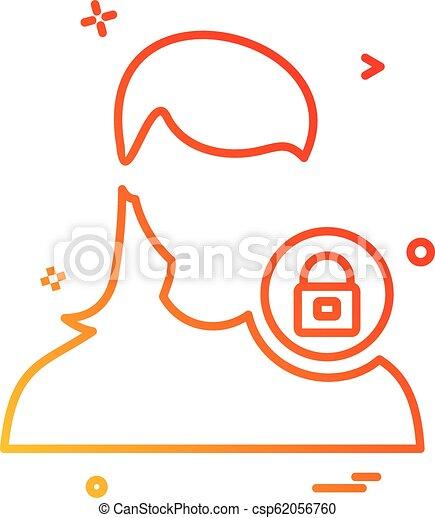 vektor, konstruktion, avatar, kvindelig, ikon - csp62056760