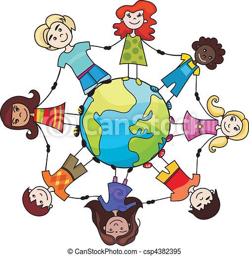verden, børn - csp4382395
