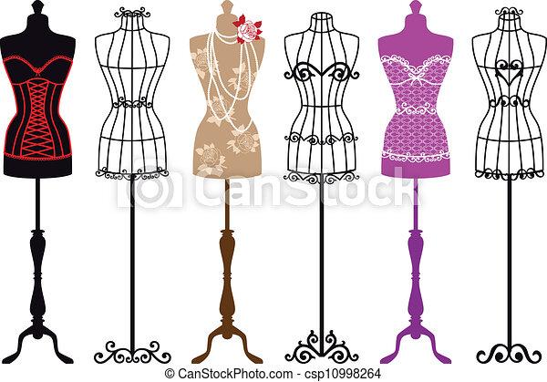 vinhøst, mode, mannequins - csp10998264